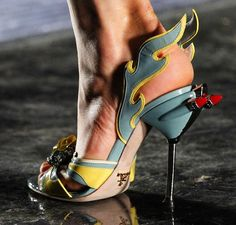 Prada Spring 2012 50s Hot Rod Heels [ OK Now these are EPIC!!!!! ]