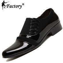 2015 nouvelle mode oxford chaussures pour hommes robe de mariée chaussures hommes tissu casual en cuir verni noir chaussures bout pointu chaussures plates(China (Mainland))