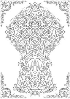 From Creative Haven Deluxe Edition Celtic Nature Coloring Book