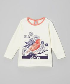 Look at this #zulilyfind! Coral Bird Organic Top - Infant, Toddler & Girls by Origany #zulilyfinds I designed this print :) So cool to see it on kids clothes by Origany!