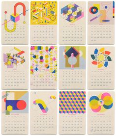 Paper Pusher Isometric Risograph Calendar - All Months Kids Calendar, Calendar Design, Calendar 2018, Magazine Design, Design Bauhaus, Schedule Design, December, Printable Calendar Template, Identity