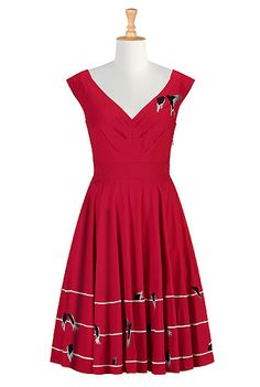 Birds eye view dress, #birds, #dresses, #eShakti fell in love, then realised they don't ship to the UK :(