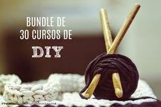 30 cursos DIY al precio de 1 www.manualidadesytendencias.com #bundle #diy #cursos