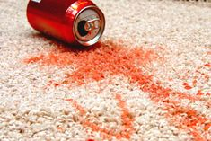 How To Spot Clean Your Carpet1 c. vinegar + 1 c. water in a spray bottle. Spray the stain until wet. Use a brush to scrub the mixture into the stain. Wait 5-10 minutes. Gently wipe and blot up the stain with a water and soap-moistened cloth. Repeat if necessary. *** For a heavy duty carpet cleaner, mix 1/4 cup each of salt, borax and vinegar. Rub paste into carpet and leave for a few hours. Vacuum.