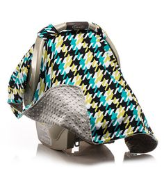 Boy Carseat Canopy Car Seat Cover By ElonkaNichole Baby Seats Houndstooth