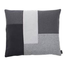 Brick Cushion in grey from Normann Copenhagen. Made from mixed textiles from the Danish textile manufacturer Gabriel. Also available in mixes of blues, greens, and reds. Luxury Cushions, Grey Cushions, Design Shop, Modern Cushion Covers, Crochet Cushions, Cover Gray, Patchwork Designs, Soft Furnishings, Contemporary Furniture