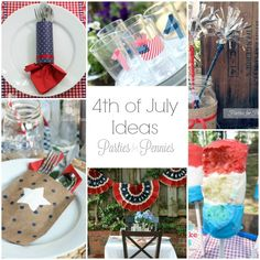 4th of July Ideas by PartiesforPennies.com #4thofJuly #patrioticcrafts #memorialday