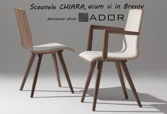 "Frumoasele si elegantele scaune ""Chiara"" sunt disponibile acum si in Brasov, prin ADOR Mobila! Si pentru ca ele sunt mai frumoase in realitate decat in poza, te invitam sa vii le vezi! Wishbone Chair, Dining Chairs, Mai, Furniture, Google Search, Home Decor, Decoration Home, Room Decor, Dining Chair"