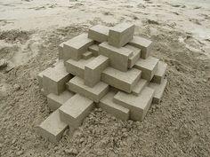 Professional Sand Castles by Calvin Seibert #Geometric #Sculpture #Architecture