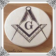 Pirografia simbolo Massonico triangolo squadra free masson