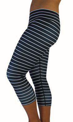 Striped Capri - Black