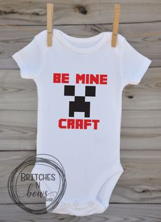 Be Mine Craft Valentine's Day Inspired // Baby Apparel, Toddler Shirts, Trendy Baby Clothes, Cute Baby Clothes, Baby and Toddler Clothes  www.BritchesNBowsShop.com  www.BritchesNBowsShop.etsy.com