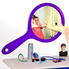 Hand Mirror Purple, $88, now featured on Fab.
