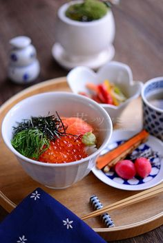 Japanese food / 鮭いくら丼
