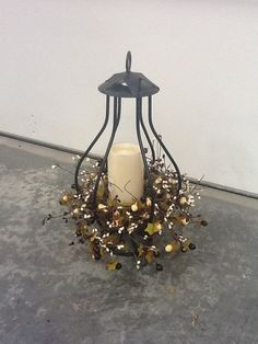 Wrought Iron Centerpiece by CollegeViewCrafts on Etsy, $40.00