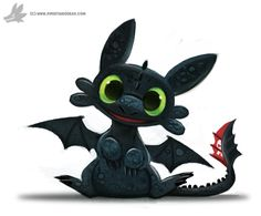 Toothless Chibi by Cryptid-Creations Time-lapse, high-res and WIP sketches of my art available on Patreon (: