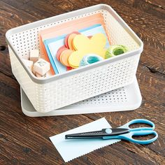 Ivory Cottage Woven Storage Bins great to KonMari my walk in closet. At wide, can fit 3 on a shelf. Plastic Bins, Use Of Plastic, Plastic Storage, Craft Storage, Plastic Laundry Basket, Storage Containers, Storage Baskets, Craft Closet Organization, Organizing