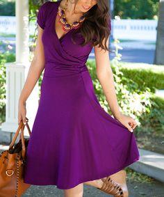 Purple Signature Addie Surplice Dress - Women 29.99