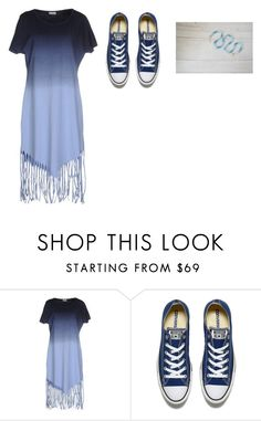 """""""monochramatic outfit"""" by lincylopez ❤ liked on Polyvore featuring Noisy May and Converse"""