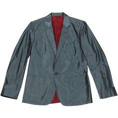 Pre-owned Jean Paul Gaultier Vest ($313) ❤ liked on Polyvore featuring men's fashion, men's clothing, men's outerwear, men's vests, grey, men clothing jackets, mens grey vest, mens vest, mens vest outerwear and mens gray vest