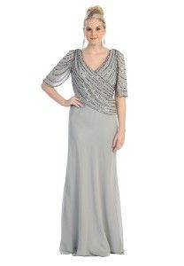 Elegant plus size mother of the bride dresses with sleeves - 5x plus