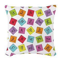 periodic elements woven throw pillow