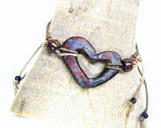 pottery bead bracelet