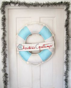 too freakin' cute! christmas wreath - ocean/beach inspired!