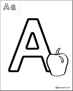 Alphabet Coloring Pages for Kids: Each letter has six pages. Try letters A, B, & C packets.