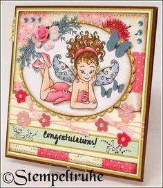 Niedliche Elfen-Geburtstagskarte