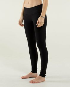 Lululemon, Wunder Under Pants. The BEST leggings EVER. Thick enough that they are not see through.