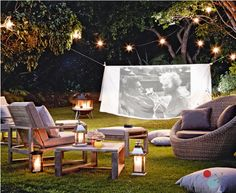 How to create an outdoor cinema | John Lewis | girlabouttech.com