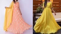 Latest Anarkali Gown Designs 2020 | Party Wear Anarkali Gowns| Simple Go... Party Wear Indian Dresses, Party Dress, Simple Gown Design, Long Anarkali Gown, Designer Anarkali Dresses, Simple Gowns, How To Wear, Party Dresses