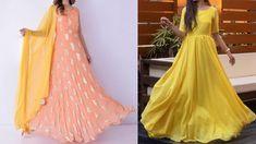Latest Anarkali Gown Designs 2020 | Party Wear Anarkali Gowns| Simple Go... Party Wear Indian Dresses, Party Dress, Simple Gown Design, Long Anarkali Gown, Designer Anarkali Dresses, Simple Gowns, How To Wear, Simple Dresses, Party Dresses