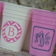 Get some adorable Personalized Stadium cups from Monogram Lane. These custom cups add pizzazz to any party! Cute for a grad or wedding! Wedding Cups, Wedding Favors, Wedding Invitations, Wedding Venues, Invitations Online, Wedding Sparklers, Wedding Ideas, Wedding 2015, Invitation Templates