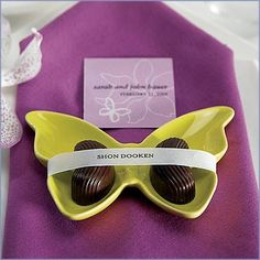 Beautiful butterfly wedding favours to assign seating, and decorate your tables fior a garden wedding