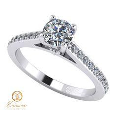 Inel din aur alb cu diamante ES89