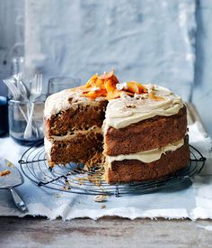 Whether paired with cream cheese, ginger, orange icing, masala or caramel, carrot cakes are an autumnal delight. Serve these with a cup of afternoon tea.