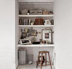 Buscando inspiración: rincones de trabajo para tu casa. home office - rincon de trabajo - oficina espacios pequeños