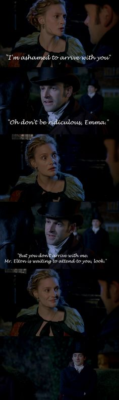 Mr. Elton -- Emma (2009) I love Emma and Knightley. They have the best banter and romance:)