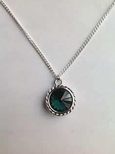 Swarovski Birthstone Pendant Necklace. May