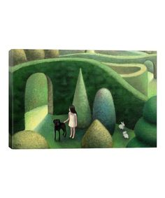 Antoinette Kelly Black Dog Wrapped Canvas #zulily #zulilyfinds Dog Wrap, Wrapped Canvas, Dogs, Artwork, Painting, Black, Work Of Art, Auguste Rodin Artwork, Black People
