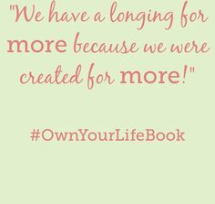 My favorite author @sallyclarkson has a new book coming out this January #OwnYourLifeBook pre-order now to get a bonus gift! ~Suzi