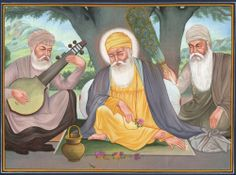 Guru Nanak Dev Ji ਗੁਰੂ ਨਾਨਕ (15. April 1469 - 22. September 1539), also called Rai Bhoe-ki Talwandi - was the founder of Sikh religion and the first of the ten Gurus of the Sikhs. Guru Nanak made four great Spiritual journeys, traveling to all parts of India, Sri Lanka, Arabia and Persia.