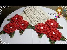 Caminho e Centro de Mesa Mega Rosas! Simone Cavagnoli / Simone artes em croche. - YouTube