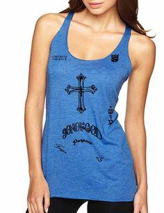 Women's Tank Top Justin Bieber Tattoos Son Of God Bieber Shirt