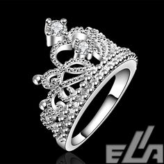 Cheap ring ceremony gift, Buy Quality gift plastic directly from China gift for Suppliers:                fashion jewelry silver plated vintage jewelry aliancas casamento austrian crystal crown rings for wo