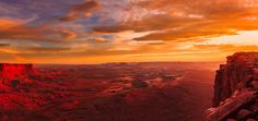 Bloody sunset over Green River outlook, Canyonlands National Park. I was lucky to see this in May 2012. www.Fotowalk.com