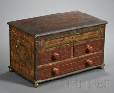 Paint-decorated Box, America, second quarter 19th century