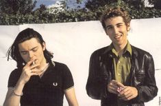 Daft Punk without their helmets, late 90′s